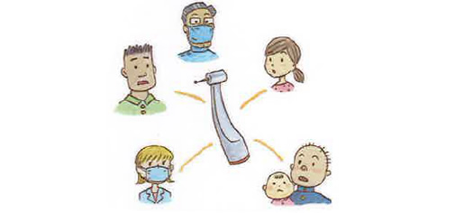 器具には色々なウイルスが付いていることも・・・ 器具を通してうつってしまうかもしれません。